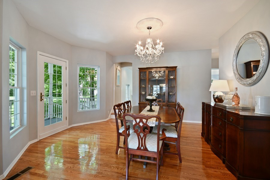 Real Estate Photography - 26W018 Bauer Rd, Naperville, IL, 60563 - Dining room w/porch access