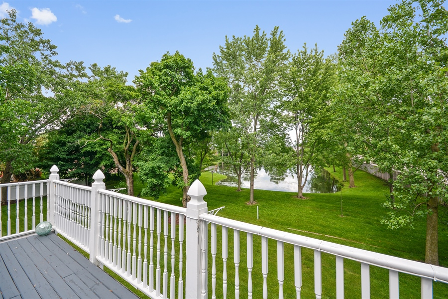 Real Estate Photography - 26W018 Bauer Rd, Naperville, IL, 60563 - Master balcony view