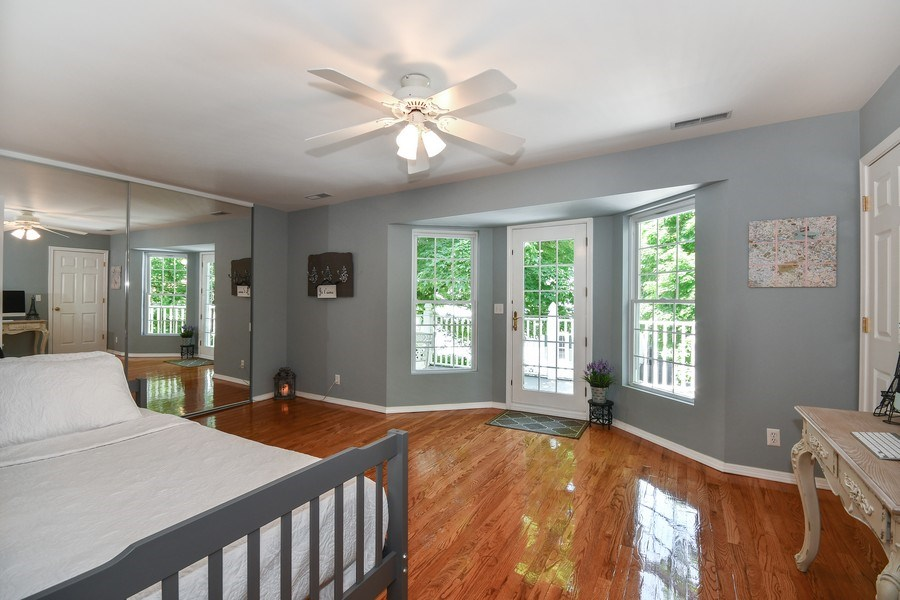 Real Estate Photography - 26W018 Bauer Rd, Naperville, IL, 60563 - Direct access from the 3rd BR to balcony