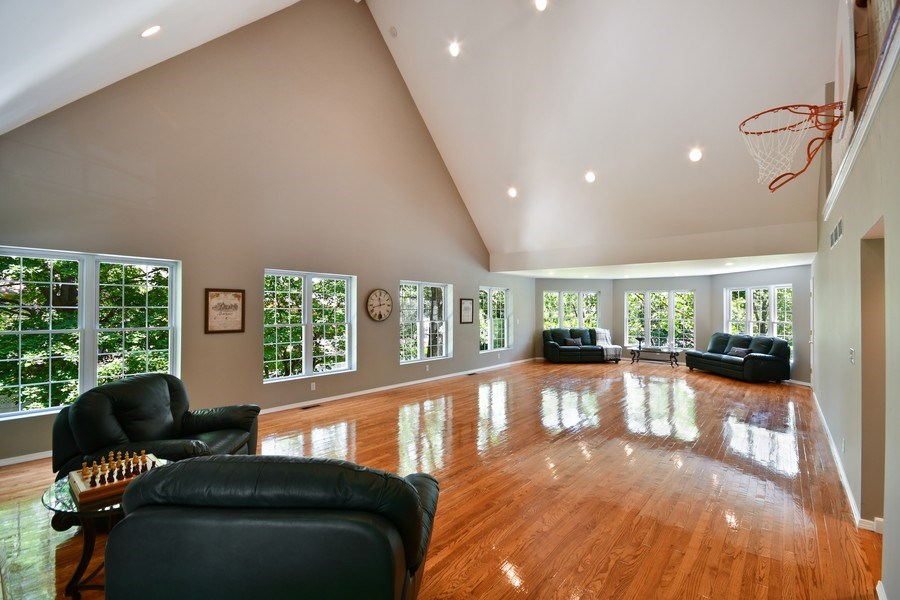 Real Estate Photography - 26W018 Bauer Rd, Naperville, IL, 60563 - Basketball anyone on the 2nd floor!