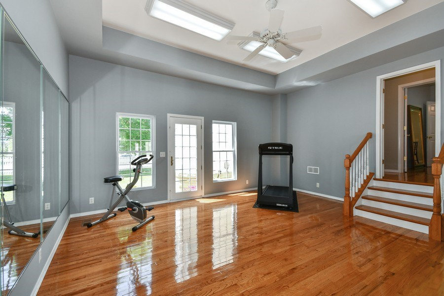 Real Estate Photography - 26W018 Bauer Rd, Naperville, IL, 60563 - Workout room