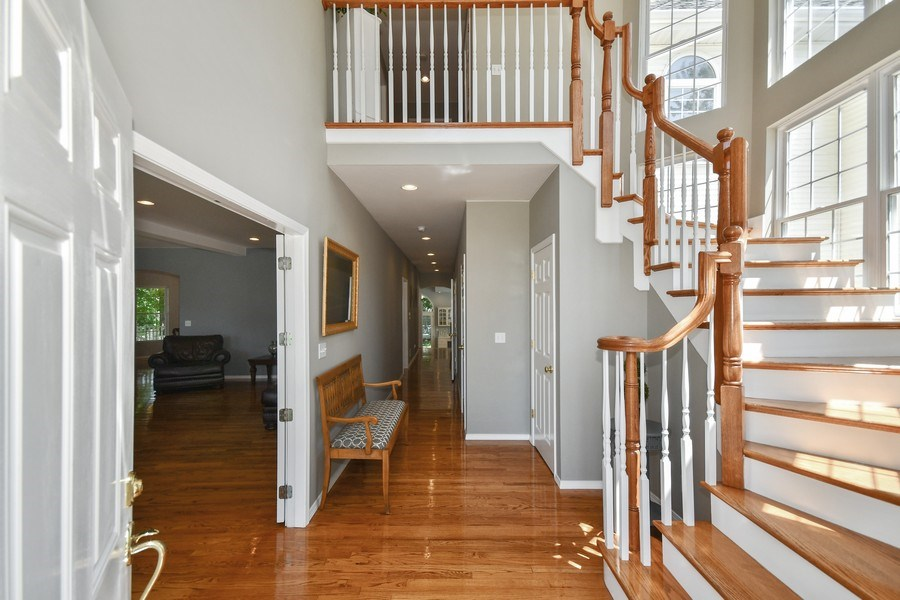Real Estate Photography - 26W018 Bauer Rd, Naperville, IL, 60563 - 2 story foyer w/sweeping staircase