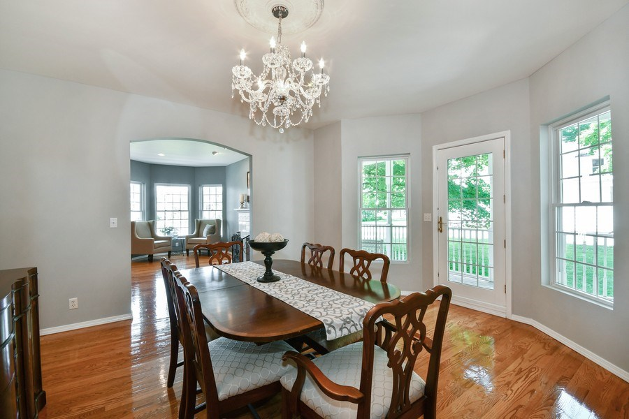 Real Estate Photography - 26W018 Bauer Rd, Naperville, IL, 60563 - Access the wrap-around porch from the DR