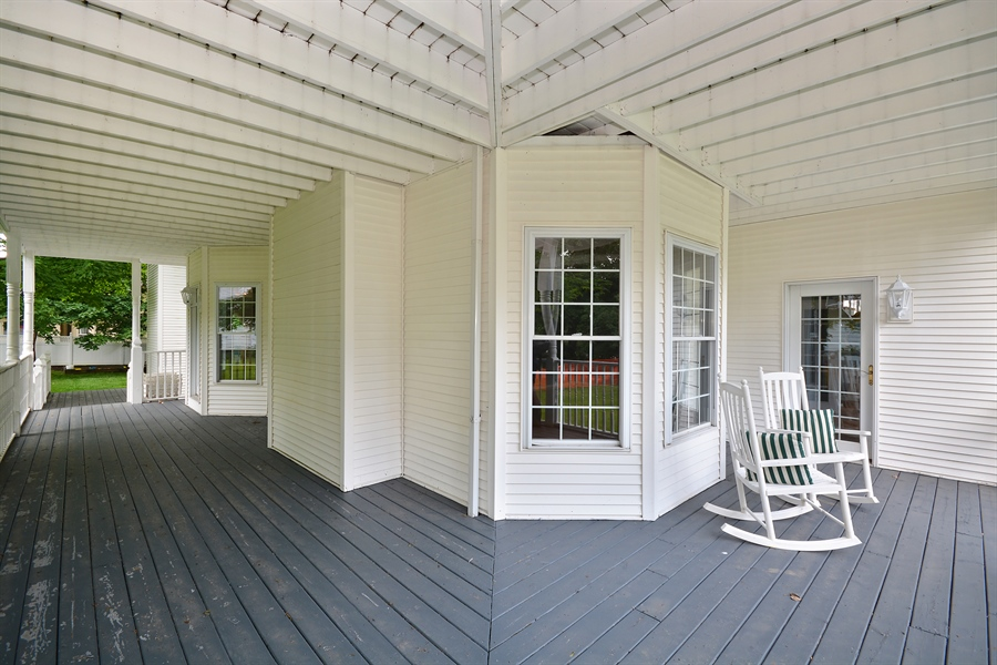 Real Estate Photography - 26W018 Bauer Rd, Naperville, IL, 60563 - Wraparound porches on the 1st & 2nd floors