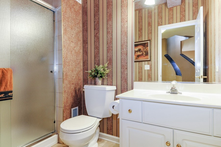 Real Estate Photography - 1126 Chadwick Ct, Aurora, IL, 60502 - 4th Bathroom (basement)