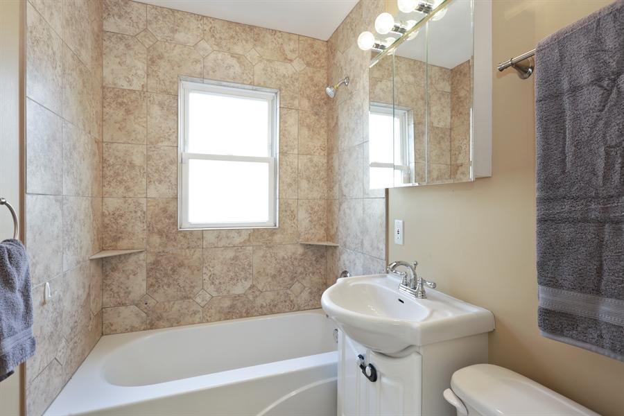 Real Estate Photography - 7166 N. Mankato Avenue, Chicago, IL, 60646 - Guest Bathroom