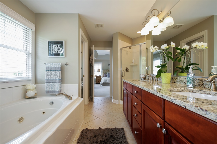 Real Estate Photography - 2811 Skyline Drive, Crystal Lake, IL, 60012 - Master Bathroom