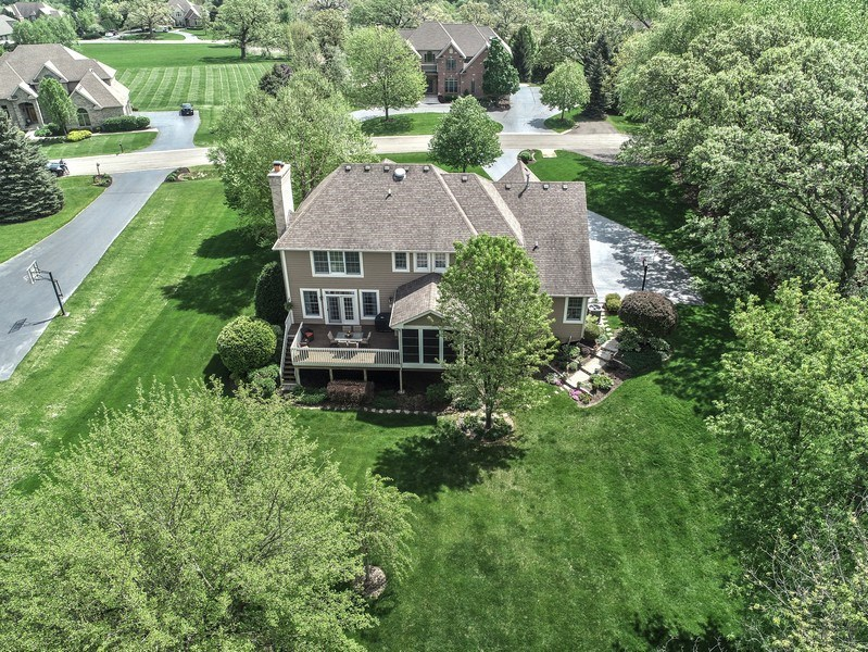 Real Estate Photography - 2811 Skyline Drive, Crystal Lake, IL, 60012 - Aerial View
