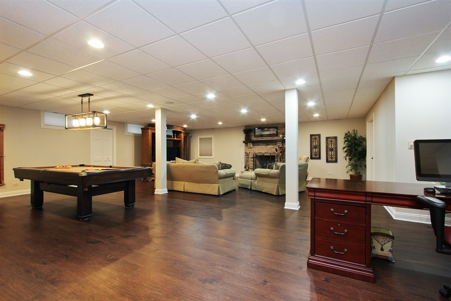 Real Estate Photography - 9 Wescott Drive, South Barrington, IL, 60010 - Recreation Room