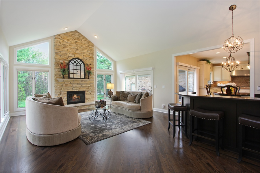 Real Estate Photography - 9 Wescott Drive, South Barrington, IL, 60010 - Family Room