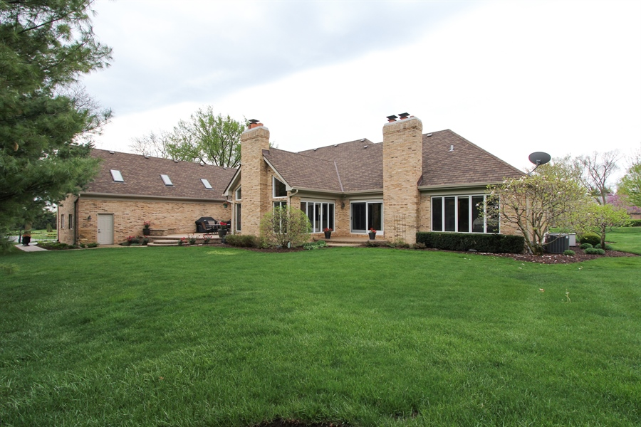 Real Estate Photography - 9 Wescott Drive, South Barrington, IL, 60010 - Rear View