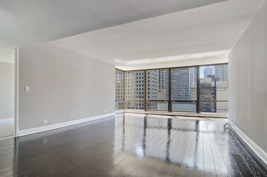 Real Estate Photography - 100 E. Bellevue Place, Unit 12C, Chicago, IL, 60611 - Living Room