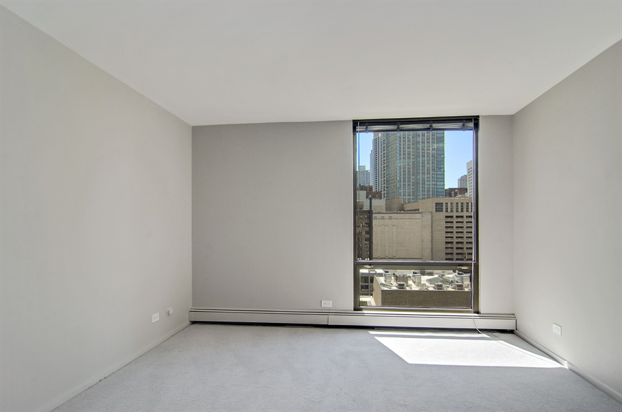 Real Estate Photography - 100 E. Bellevue Place, Unit 12C, Chicago, IL, 60611 - 2nd Bedroom
