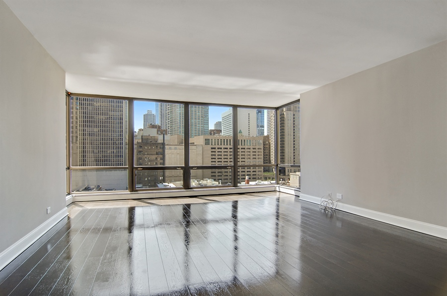Real Estate Photography - 100 E. Bellevue Place, Unit 12C, Chicago, IL, 60611 - Living Room