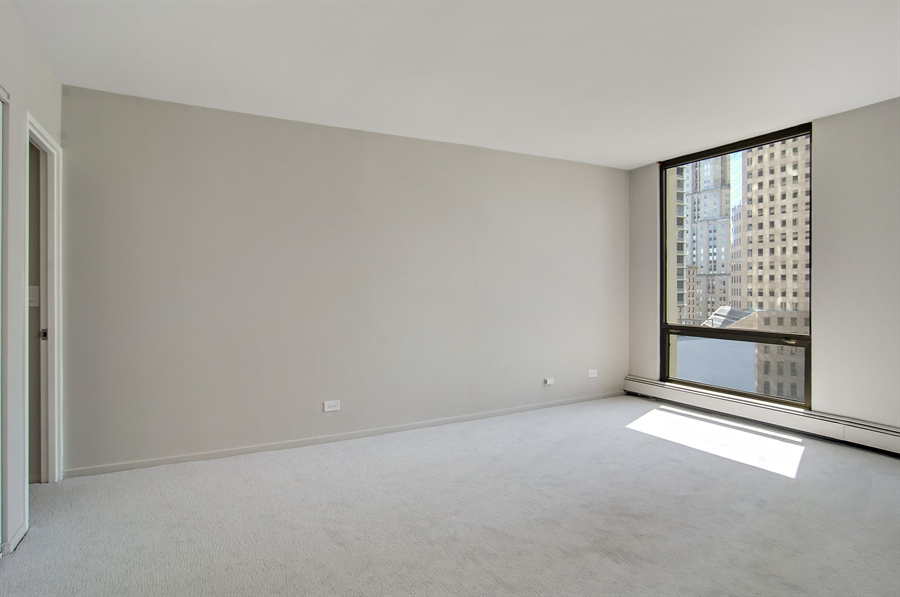 Real Estate Photography - 100 E. Bellevue Place, Unit 12C, Chicago, IL, 60611 - Master Bedroom