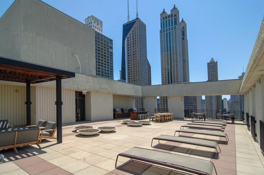 Real Estate Photography - 100 E. Bellevue Place, Unit 12C, Chicago, IL, 60611 - Common Sundeck