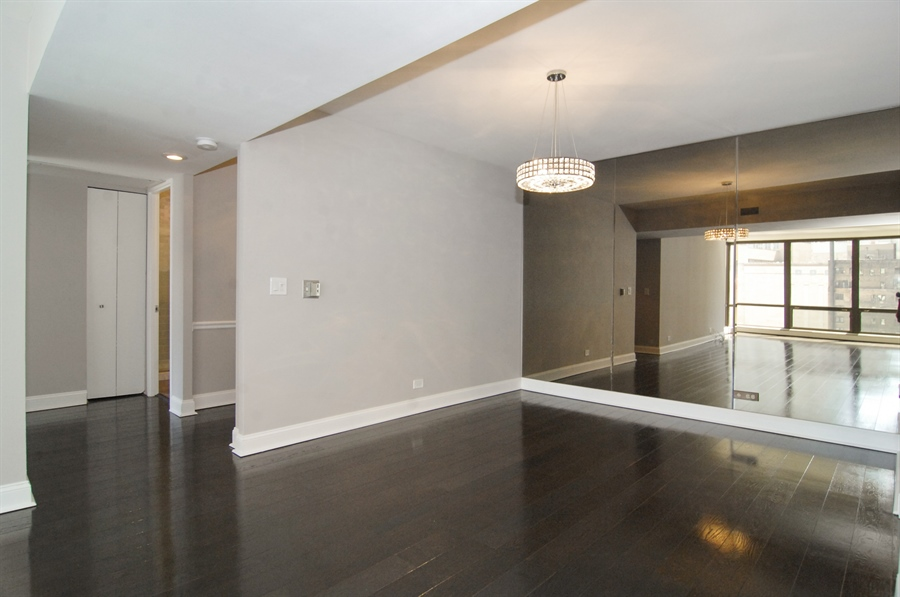 Real Estate Photography - 100 E. Bellevue Place, Unit 12C, Chicago, IL, 60611 - Dining Room