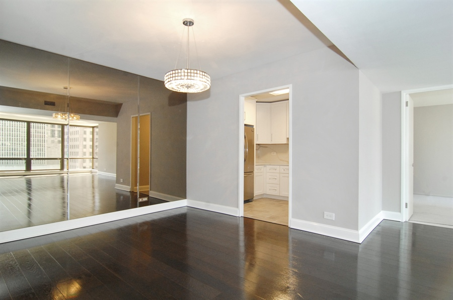 Real Estate Photography - 100 E. Bellevue Place, Unit 12C, Chicago, IL, 60611 - Kitchen / Dining Room