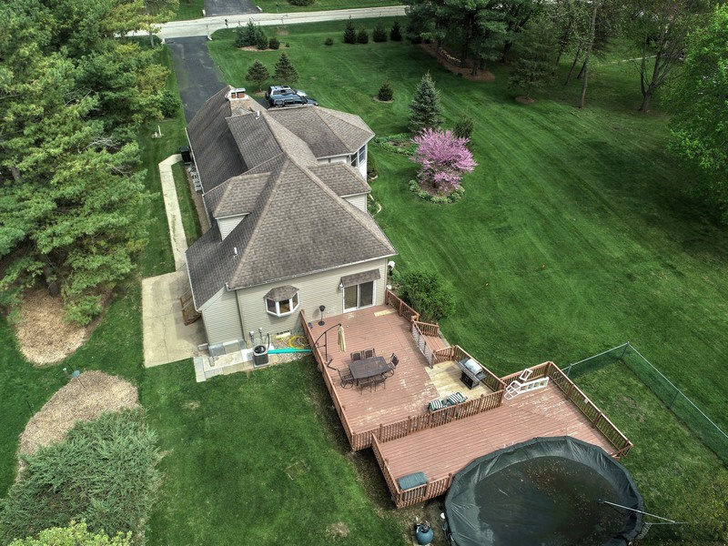 Real Estate Photography - 26166 N. Orchard Road, North Barrington, IL, 60010 - Aerial View