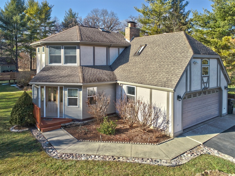 Real Estate Photography - 26166 N. Orchard Road, North Barrington, IL, 60010 - Front View in Winter