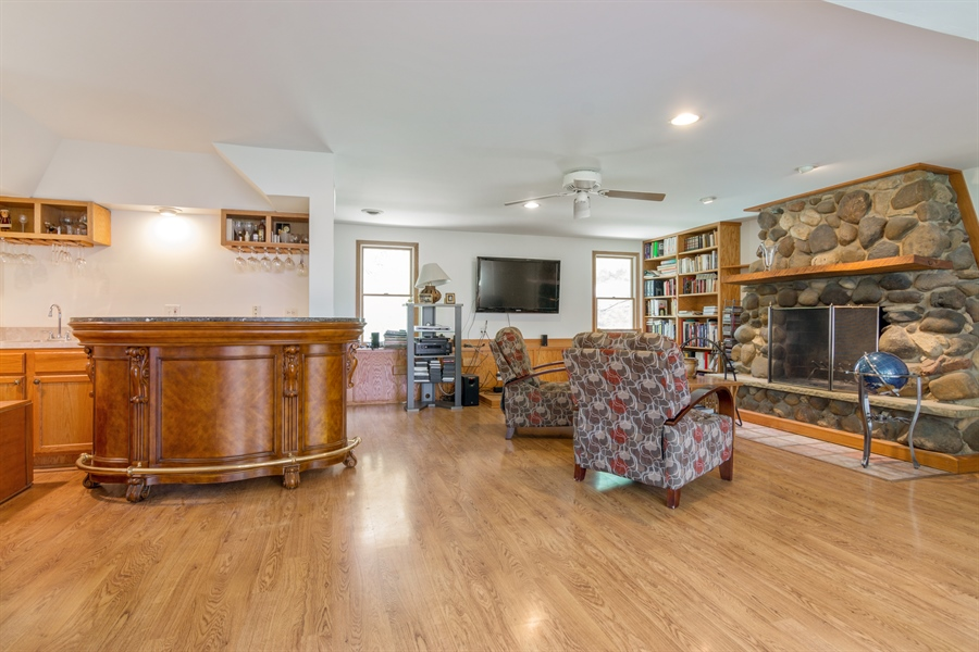 Real Estate Photography - 26166 N. Orchard Road, North Barrington, IL, 60010 - Family Rm with Fireplace