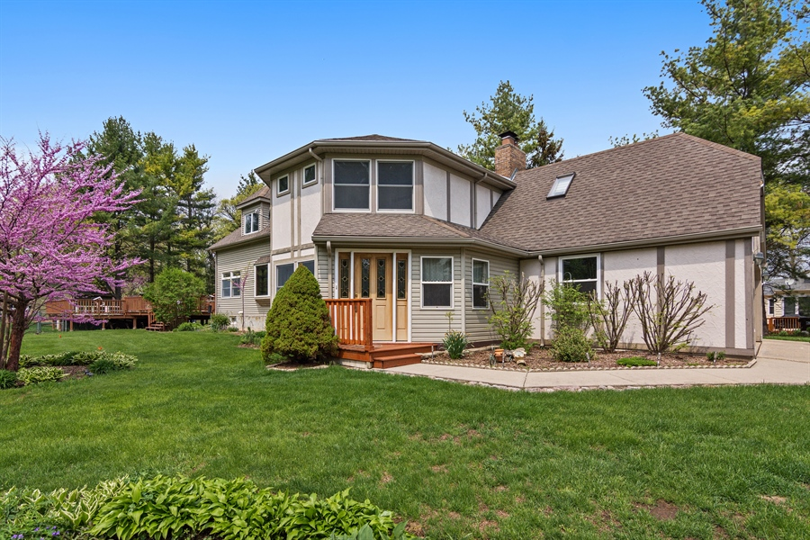 Real Estate Photography - 26166 N. Orchard Road, North Barrington, IL, 60010 - Front View in Spring
