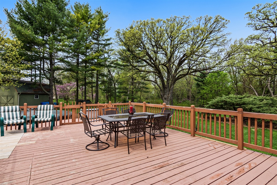 Real Estate Photography - 26166 N. Orchard Road, North Barrington, IL, 60010 - Deck