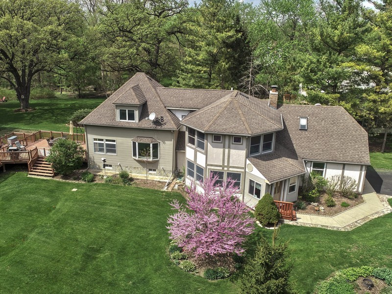 Real Estate Photography - 26166 N. Orchard Road, North Barrington, IL, 60010 - Front / Side View in Spring