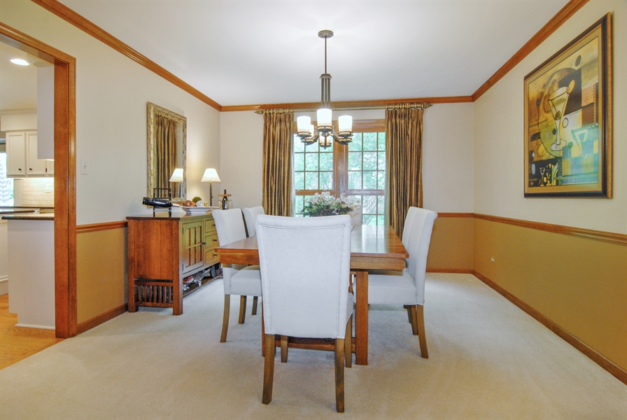 Real Estate Photography - 1536 Meadowland Drive, Naperville, IL, 60540 - Dining Room