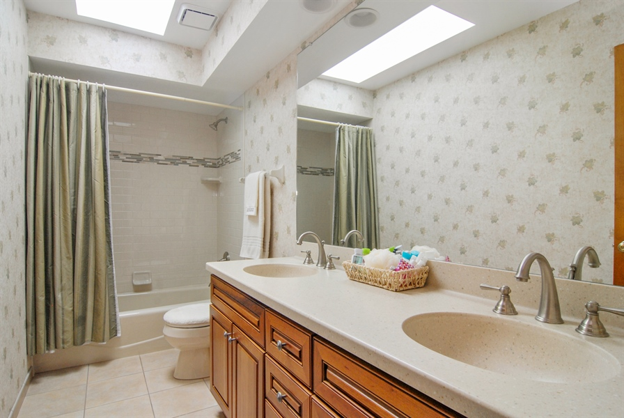 Real Estate Photography - 1536 Meadowland Drive, Naperville, IL, 60540 - 2nd Bathroom