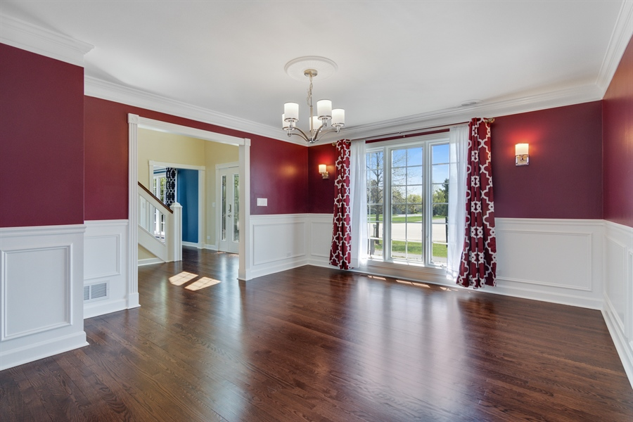 Real Estate Photography - 1980 Clover Drive, Inverness, IL, 60067 - Foyer/Dining Room