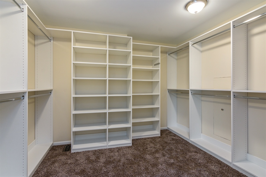 Real Estate Photography - 1980 Clover Drive, Inverness, IL, 60067 - Master Bedroom Closet