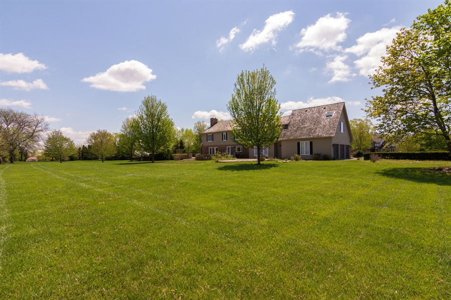 Real Estate Photography - 1980 Clover Drive, Inverness, IL, 60067 - Side View