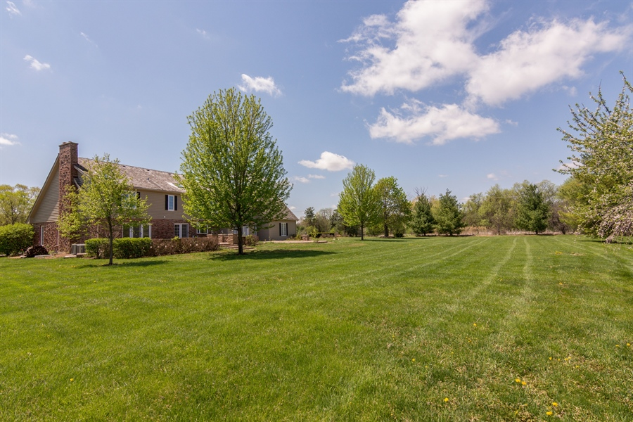 Real Estate Photography - 1980 Clover Drive, Inverness, IL, 60067 - Rear View