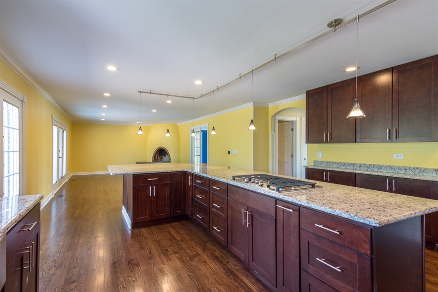 Real Estate Photography - 1980 Clover Drive, Inverness, IL, 60067 - Family Room / Kitchen