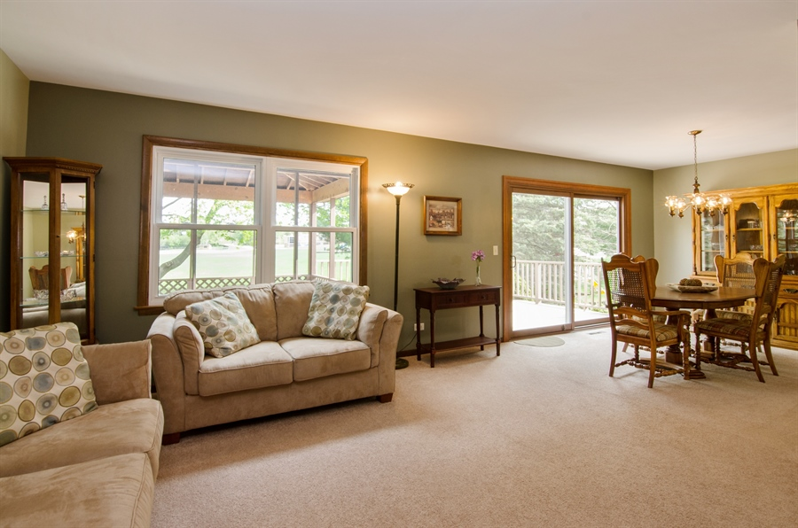Real Estate Photography - 710 N. Vista Drive, Algonquin, IL, 60102 - Living Room / Dining Room