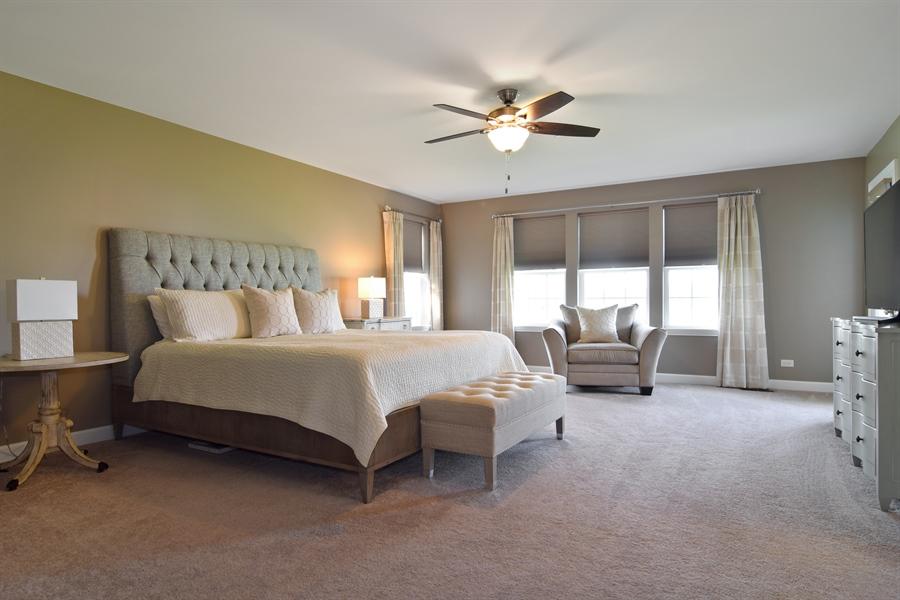 Real Estate Photography - 3597 Harold Circle, Hoffman Estates, IL, 60192 - Master Bedroom