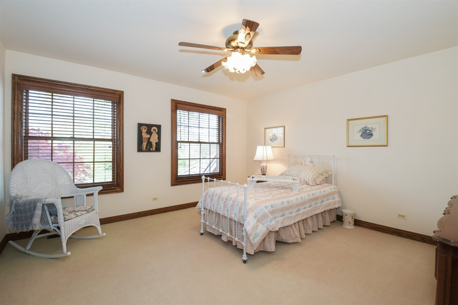 Real Estate Photography - 1303 Brandywine Road, Libertyville, IL, 60048 - 3rd Bedroom