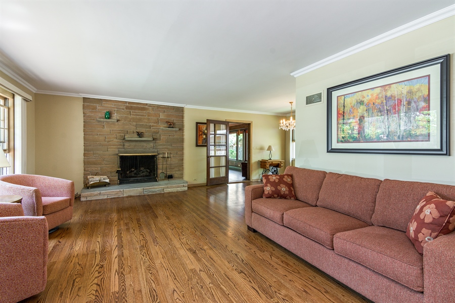 Real Estate Photography - 210 Cambridge Road, Des Plaines, IL, 60016 - Living Room