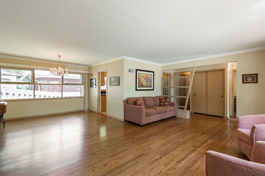 Real Estate Photography - 210 Cambridge Road, Des Plaines, IL, 60016 - Living Room / Dining Room