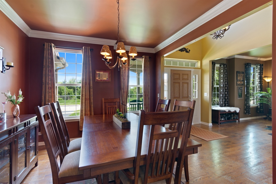 Real Estate Photography - 1885 Northwood Drive, Wauconda, IL, 60084 - Foyer/Dining Room