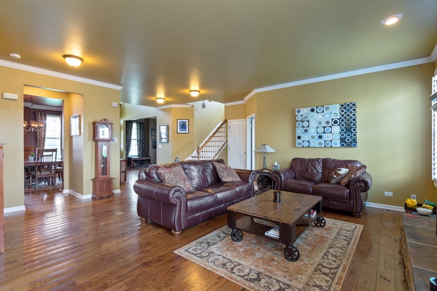 Real Estate Photography - 1885 Northwood Drive, Wauconda, IL, 60084 - Family Room