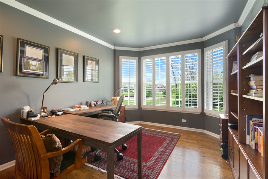 Real Estate Photography - 1885 Northwood Drive, Wauconda, IL, 60084 - Office
