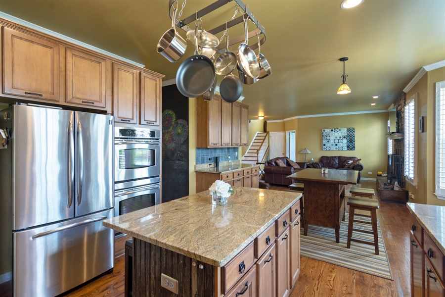Real Estate Photography - 1885 Northwood Drive, Wauconda, IL, 60084 - Family Room / Kitchen