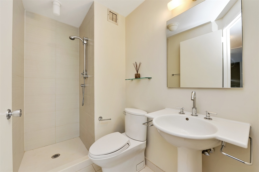 Real Estate Photography - 1415 N. Dearborn Street, Unit 4D, Chicago, IL, 60610 - 2nd Bathroom