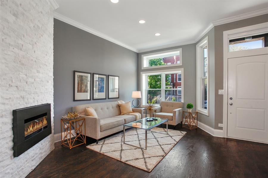 Real Estate Photography - 438 E. 46th Street, Chicago, IL, 60653 - Living Room