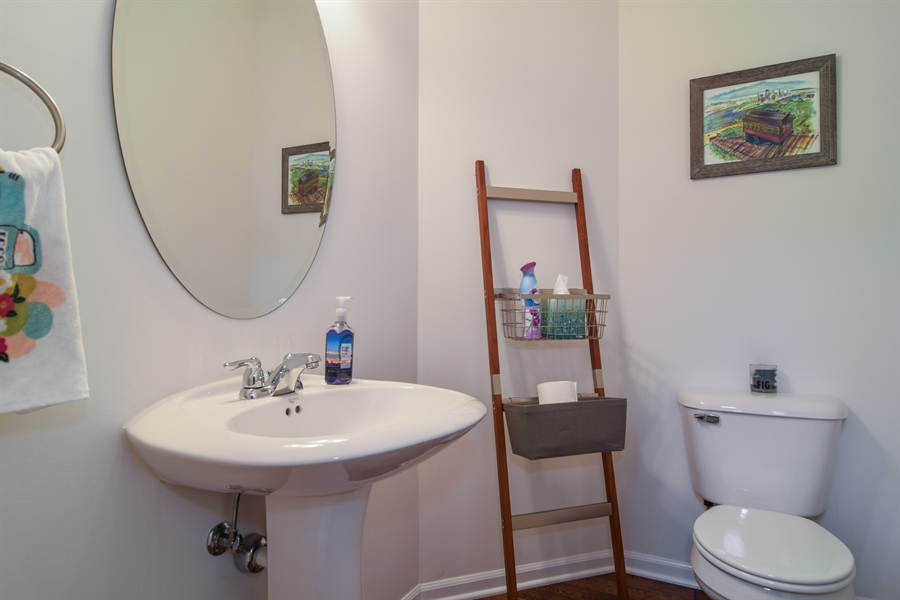 Real Estate Photography - 6544 Lilac Boulevard, Hanover Park, IL, 60133 - Half Bath