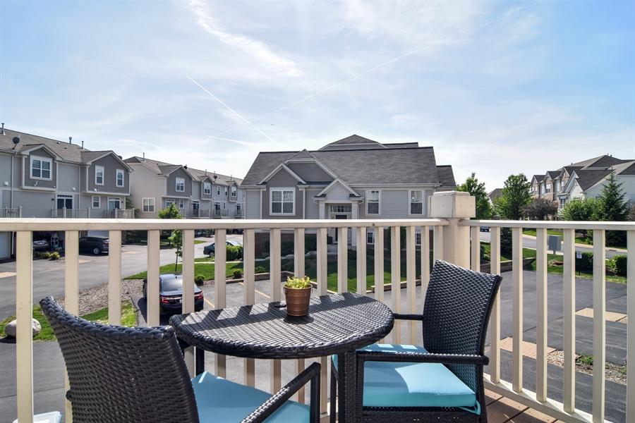 Real Estate Photography - 6544 Lilac Boulevard, Hanover Park, IL, 60133 - Balcony