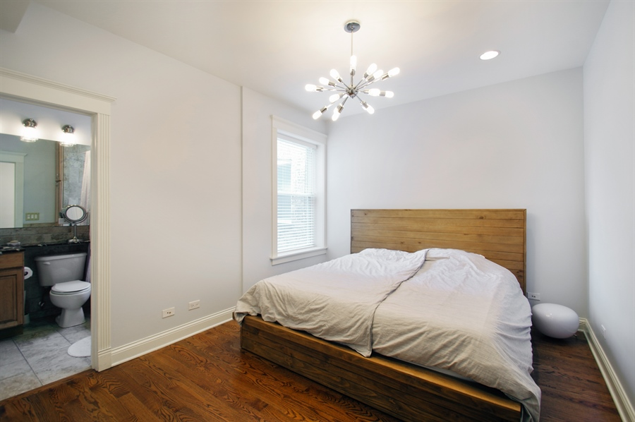 Real Estate Photography - 1410 W Argyle, 2, Chicago, IL, 60640 - Master Bedroom
