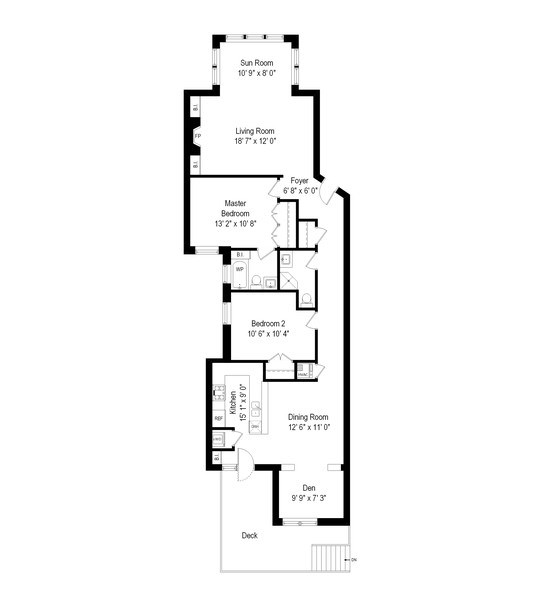 Real Estate Photography - 1410 W Argyle, 2, Chicago, IL, 60640 - Floor Plan